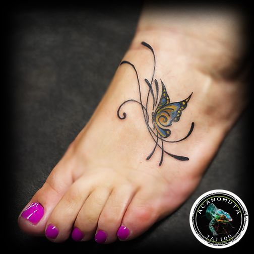 Fly as far as you can..sexy butterfly tattoo suggested by Acanomuta tattoo studio