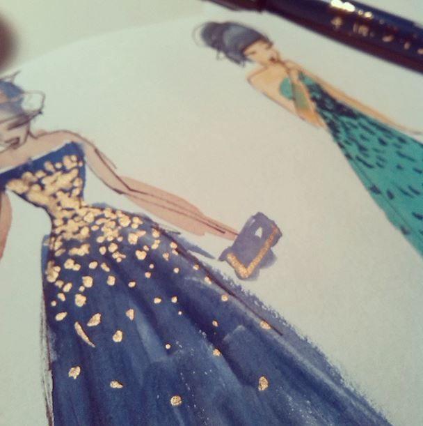 Sketches fashion illustration by Isabel Hierro #sketch #fashion #fashionilustrarion