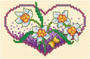Spring flower heart