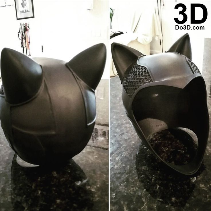 3D Printable Model: Catwoman Arkham Knight Helmet and Goggles | Print File Format: STL – Do3D.com