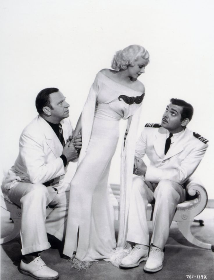Wallace Beery, Jean Harlow and Clark Gable - CHINA SEAS