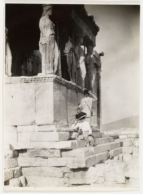 The de Meyer's on the Acropolis, 1890s by Adolf de Meyer