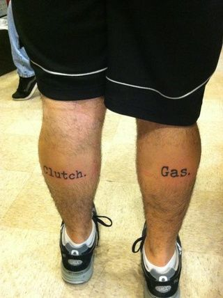 Clutch and gas tattoo