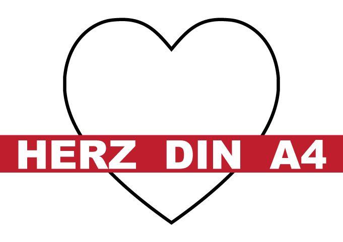 Herz Din A4 Vorlage Herz Vorlage Gutschein Vorlage Geschenkgutschein Vorlage