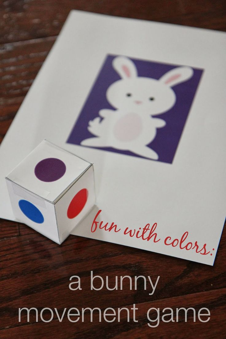Fun with Colors: Bunny Movement Game from Toddler Approved