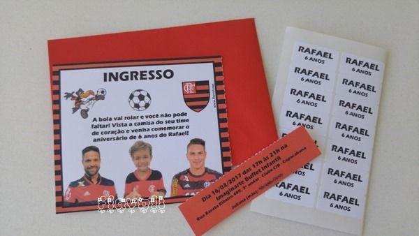Convite ingresso com picote - Flamengo  :: flavoli.net - Papelaria Personalizada :: Contato: (21) 98-836-0113 - Também no WhatsApp! vendas@flavoli.net