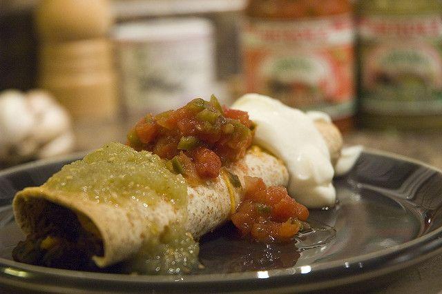 Spicy Black Bean Sweet Potato Burritos | recipes | Pinterest