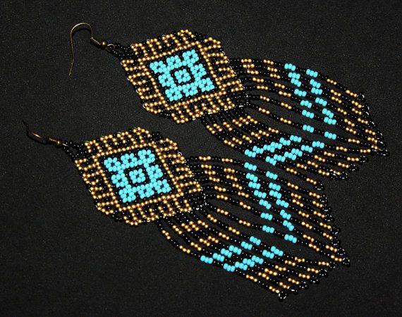 Oro Azteca turquesa joyería Azteca por BiuluArtisanBoutique en Etsy