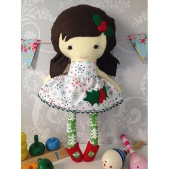 Handmade Christmas Themed Dress up Doll