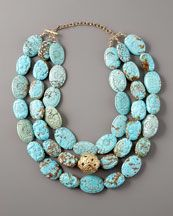 This necklace looks like a bunch of robin's eggs, such a beautiful color!