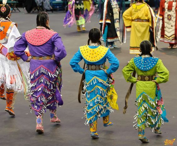 Jingle dress dancers at the 2011 Manito Ahbee Pow wow. It almost looks like a…