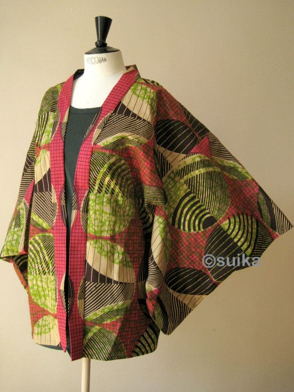 アフリカン・ファブリックの着物/Kimono Africain - geometric rose