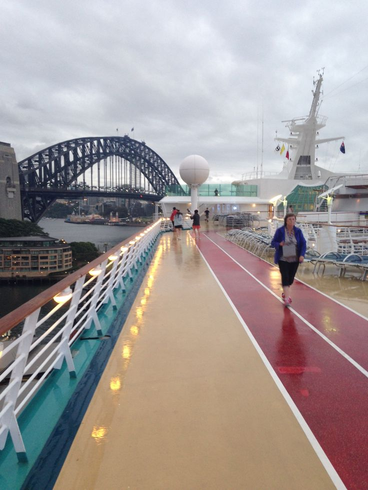 On the deck arriving into Sydney - wet morning