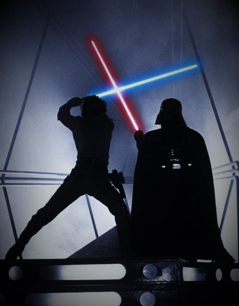 Luke Skywalker vs Darth Vader - Epic Lightsaber Duel - Best Star Wars Image Ever - What Star Wars should have been.