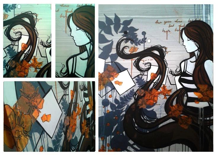 ".Harmonize.  36"" x 48""  mixed media on canvas"