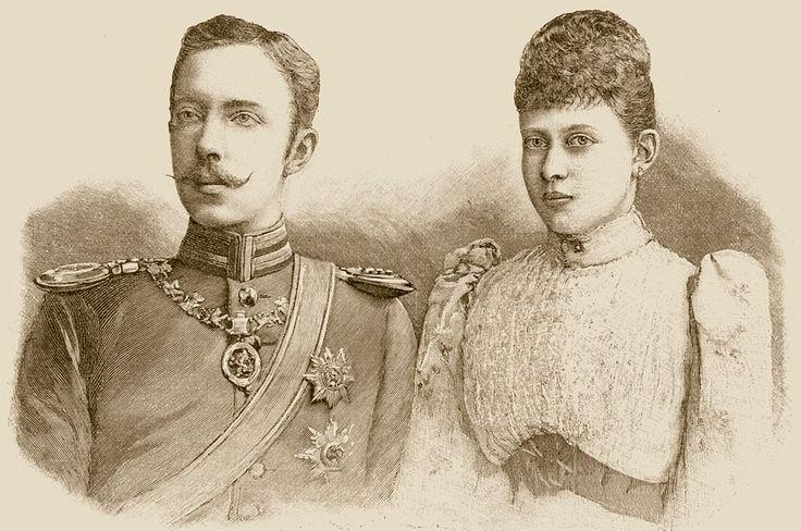 Principessa Margaret di Prussia nipote della Regina Vittoria con il consorte Federico Carlo d'Assia