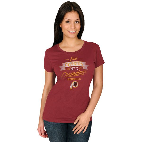 Washington Redskins Majestic Women's 2015 NFC East Division Champions T-Shirt - Burgundy - $18.99