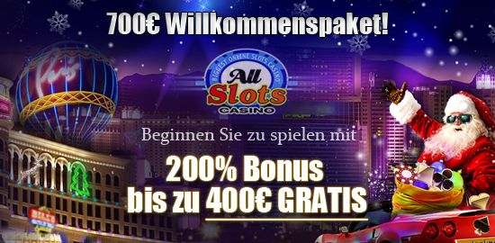All Slots Casino 200% Special Bonus