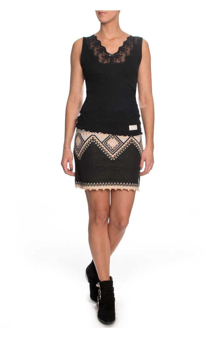 Kjol Palisades LITE ALMOST BLACK - Odd Molly - Designers - Raglady