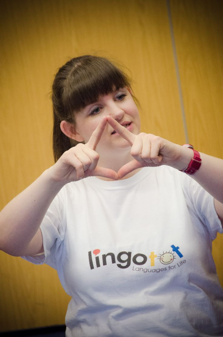 Lingotot founder, Angela Sterling, teaching French in Co Durham