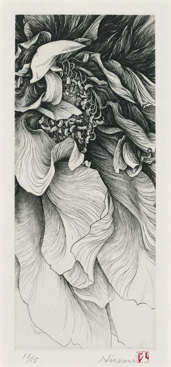Hiromi Miura etching: