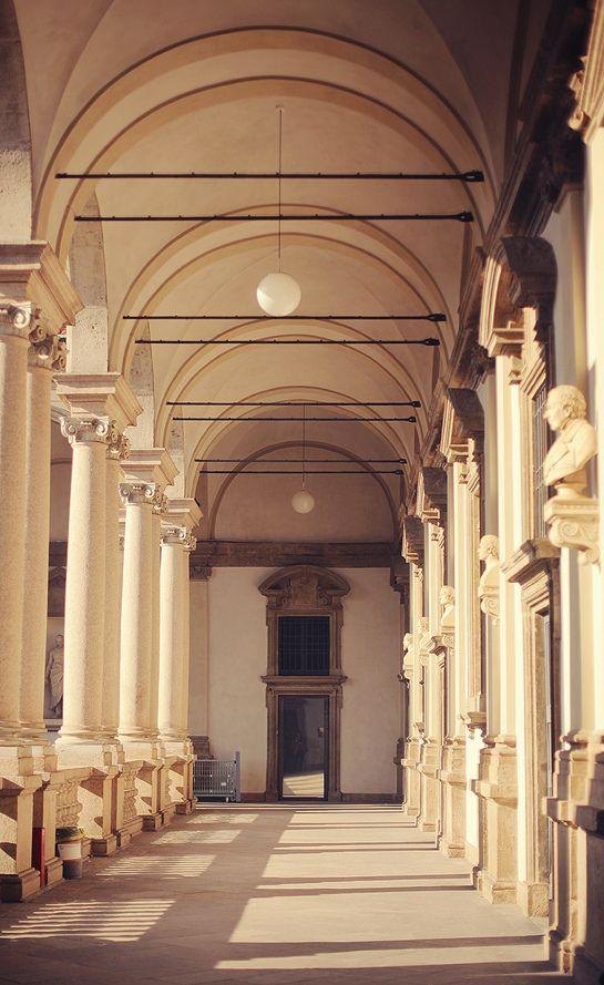 Pinacoteca di Brera, Painting Gallery, detail of the loggia of the courtyard. Milano #Expo2015 #TuscanyAgriturismoGiratola