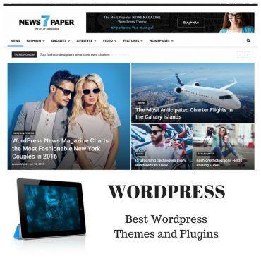 Newspaper magazine template wordpress