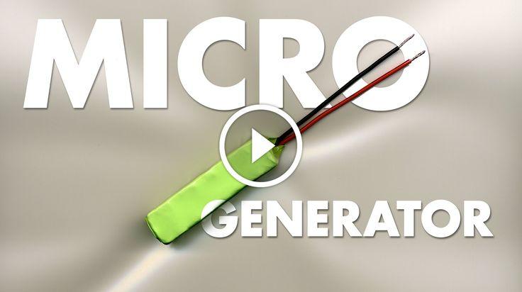 """MICRO GENERATOR                                            Micro gerador de tamanho de pilha """"AA"""" – uma célula de energia de grafite de cristal de silício de célula de célula de alta tensão. source"""
