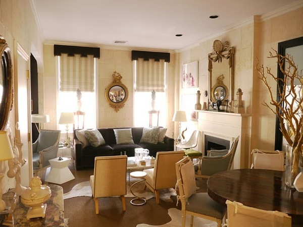 Lovely Row Home Living Room Furniture Arrangement, Seats Nine Without The Dining  Room Chairs! Part 24