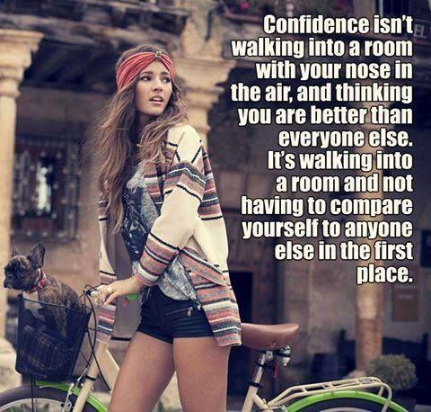 Be confident, not arrogant.  Treat others with the respect they deserve as fellow human beings.