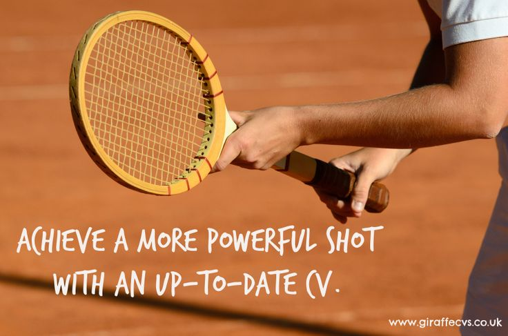 Achieve a more powerful shot with an up-to-date #CV #Wimbledon2014