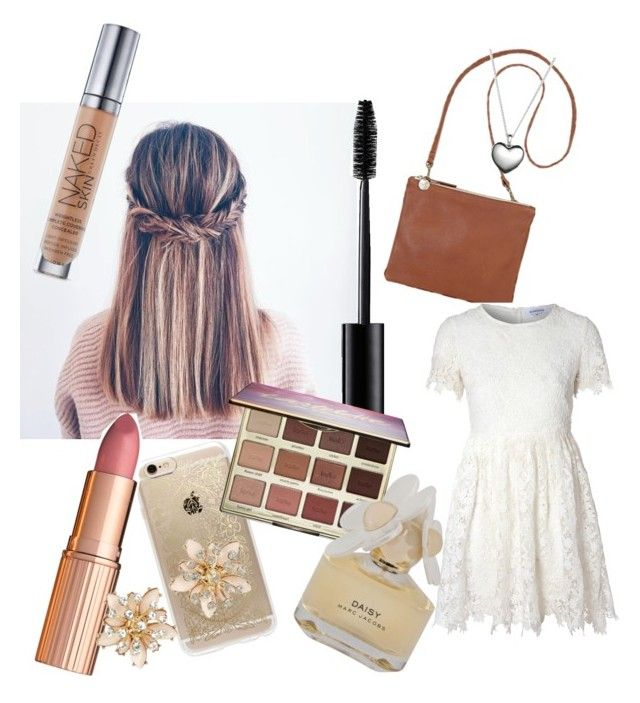 """""""⭐️"""" by talia-123 on Polyvore featuring Rifle Paper Co, Charlotte Tilbury, Clare V., Glamorous, New Look, tarte, Marc by Marc Jacobs, Urban Decay and Pandora"""