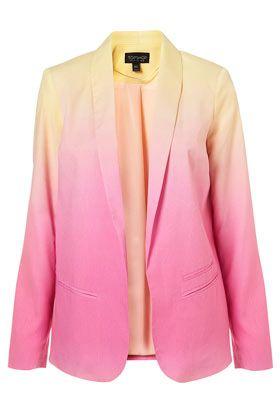 Ombre Fluid Blazer: Light Pink Blazers, Coord, Ombre Fluid, Topshop Ombre, Fluid Blazers, Style, Blazers Fashion, Co Ord Ombre, Ombre Blazers
