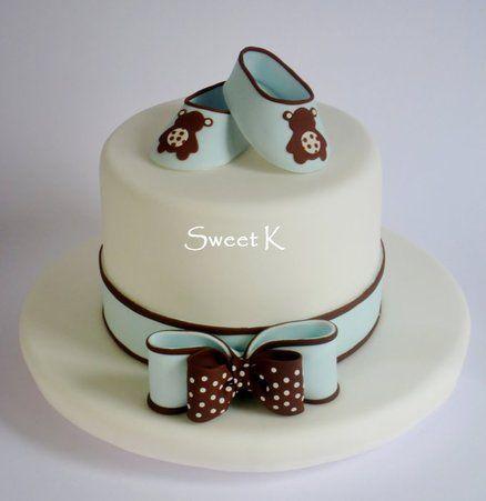 """Baby """"shoes""""cake - by Karla (Sweet K) @ CakesDecor.com - cake decorating website"""