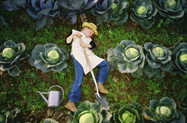 Tilling your own soil. | 24 Childhood Dreams Brought To Life