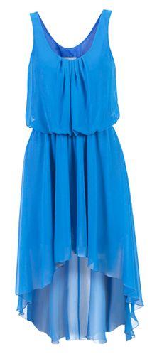 blauwe jurk. Prachtig
