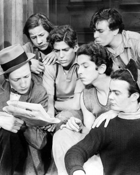 The Dead End Kids-The Dead End Kids were a group of young actors from New York who appeared in Sidney Kingsley's Broadway play Dead End in 1935. In 1937 producer Samuel Goldwyn brought all of them to Hollywood and turned the play into a film. They proved to be so popular that they continued to make movies under various monikers, including the Little Tough Guys, the East Side Kids, and the Bowery Boys, until 1958.
