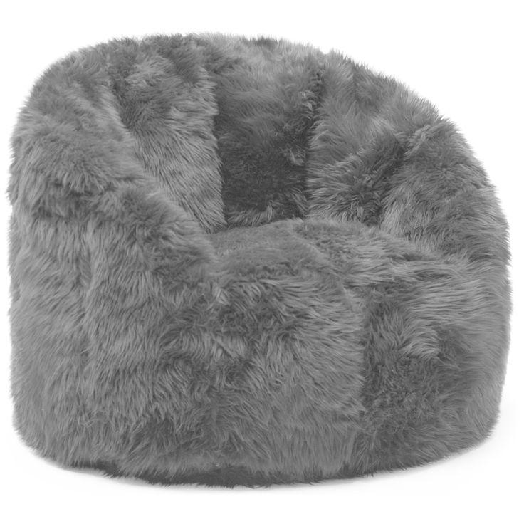 Big Joe Lux Milano Shag Fur Chair Spot Treat