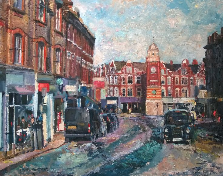 https://flic.kr/p/xNoYMf | Crouch End London | oil 20 x 16 inches