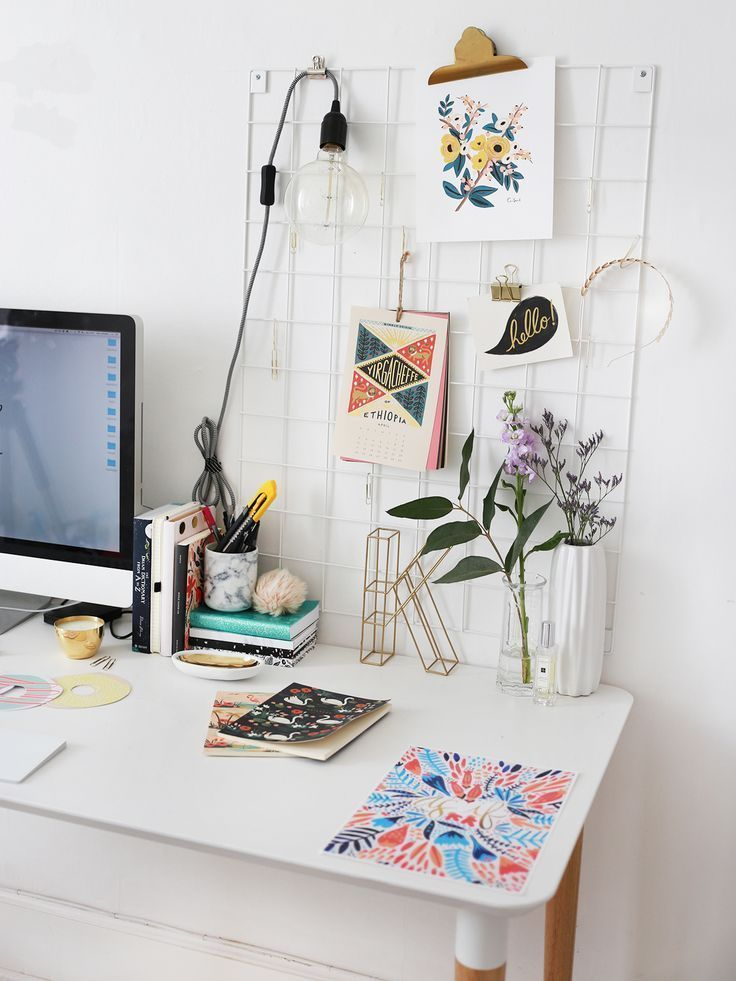good little tidy and creative workspace for the home desk goals