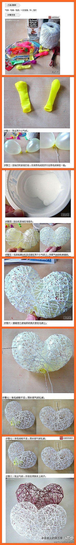 DIY Yarn Heart Ornament DIY Projects