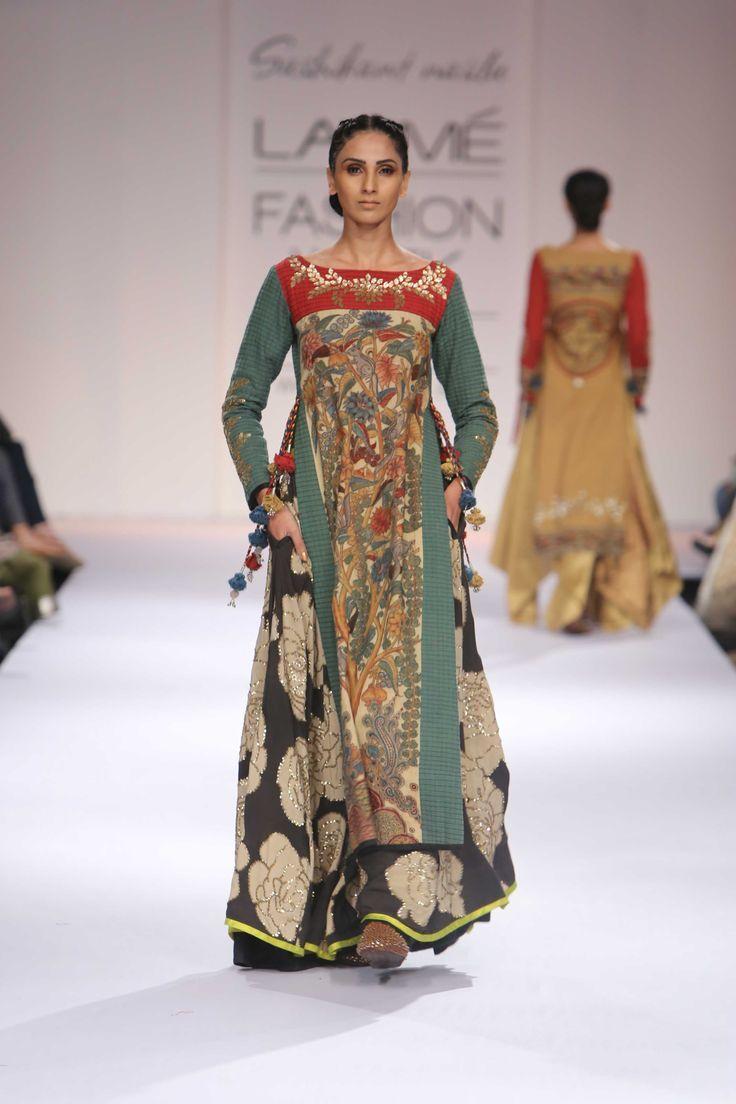 Shashikant Naidu Kalamkari Inspired Design at Lakme Fashion Week