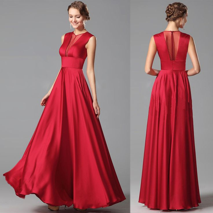 RED LONG PROM DRESS $139