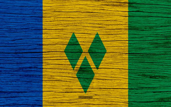 Download wallpapers Flag of Saint Vincent and the Grenadines, 4k, North America, wooden texture, national symbols, Saint Vincent and the Grenadines flag, art, Saint Vincent and the Grenadines