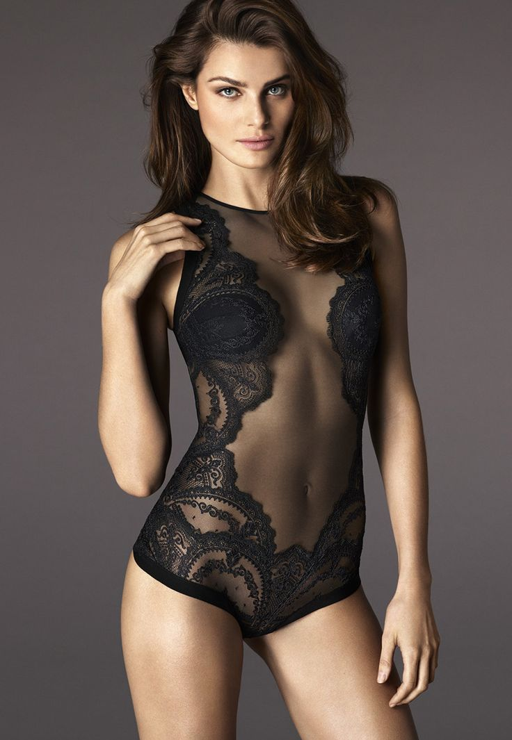 Isabeli Fontana for La Perla in the Fall/Winter 2015 campaign photographed by Mert and Marcus