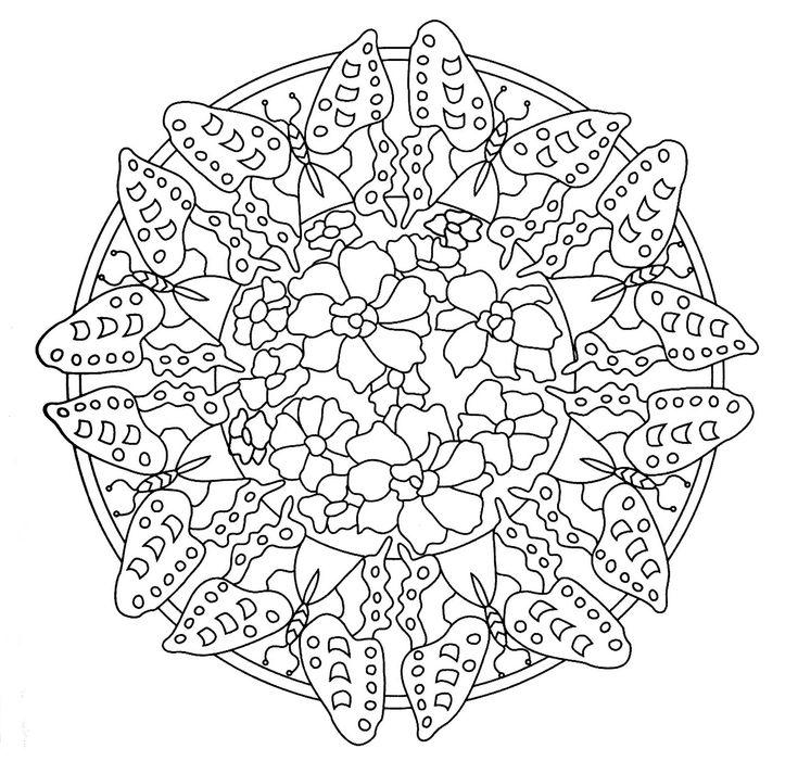 Mandalas Para Pintar Mandalas De Naturaleza