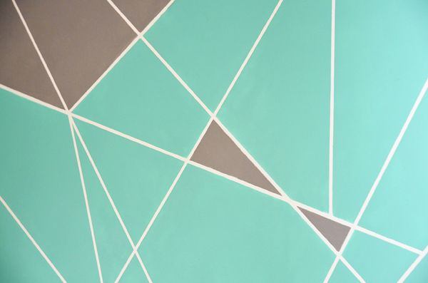 easy graphic DIY accent wall art idea: Affordable Art, Diy Affordable, Easy Wall Art, Geometric Art, Diy Art, Abstract Art, Affordable Diy, Diy Abstract, Diy Paintings