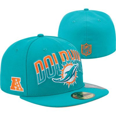 Miami Dolphins New Era 2013 NFL Draft 59FIFTY Hat. Featuring the brand new Miami Dolphins logo
