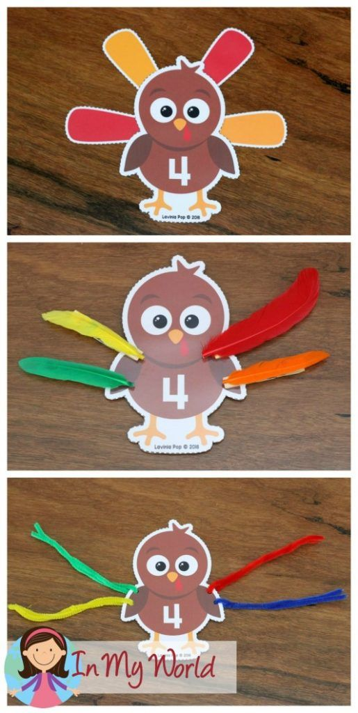 FREE Preschool Thanksgiving Centers Turkey Numbers