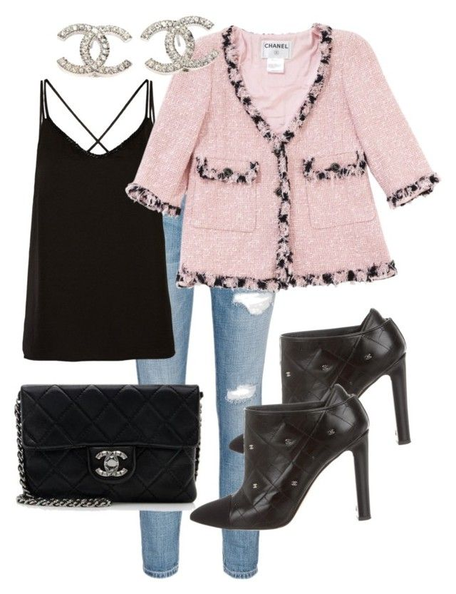 """""""Untitled #14"""" by lchrumka on Polyvore featuring Current/Elliott, Chanel, women's clothing, women, female, woman, misses and juniors"""